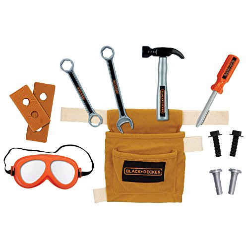BLACK+DECKER 99638 Jr Tool Belt Set, Multicolor, Standard Size