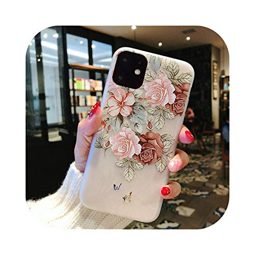 Phone Cover Para Iphone 11 Pro Max X Xr Xs 6 6S 7 8 Plus Mate Tricky 3D Arte Rosa Pintura Alivio Suave Tpu Contraportada Fundas-T4-Para Iphone X Xs