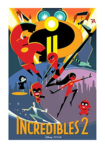 PosterOffice Incredibles 2 Movie Poster Size 24' X 36' This is a Certified Print with Holographic Sequential Numbering for Authenticity.