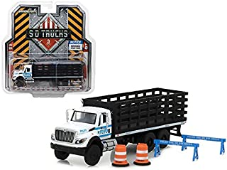 2017 International Workstar Platform Stake Truck New York City Police Department (NYPD) with Public Safety Accessories S.D...