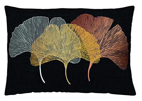 NATURALS Funda de cojín Reversible Gingko 50x30 cm
