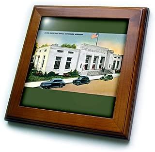 3dRose ft_170243_1 United States Post Office, Hattiesburg, Mississippi-Framed Tile Artwork, 8 by 8-Inch