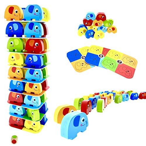 RB&G Spiel Pädagogisches Kinderspiel Puzzle ab 3 Jahre Spiele ab 3 Jahren Holzpuzzle Puzzle aus Holz Stapelspiel Brettspiel ab 3 Jahre
