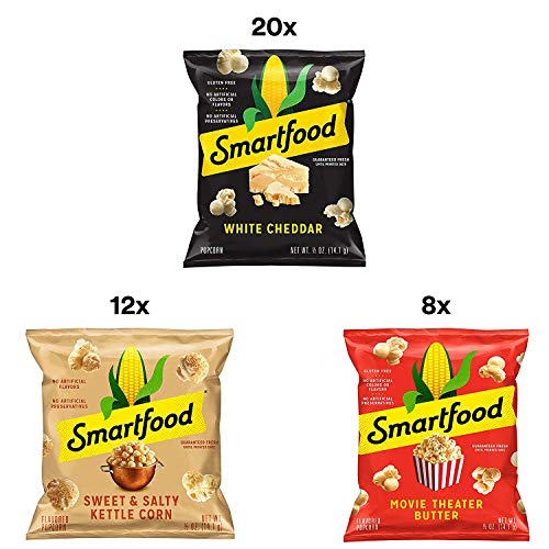 Review Of Smartfood Popcorn Variety Pack, 0.5 Ounce (Pack of 40) (3 Case (Pack of 40))
