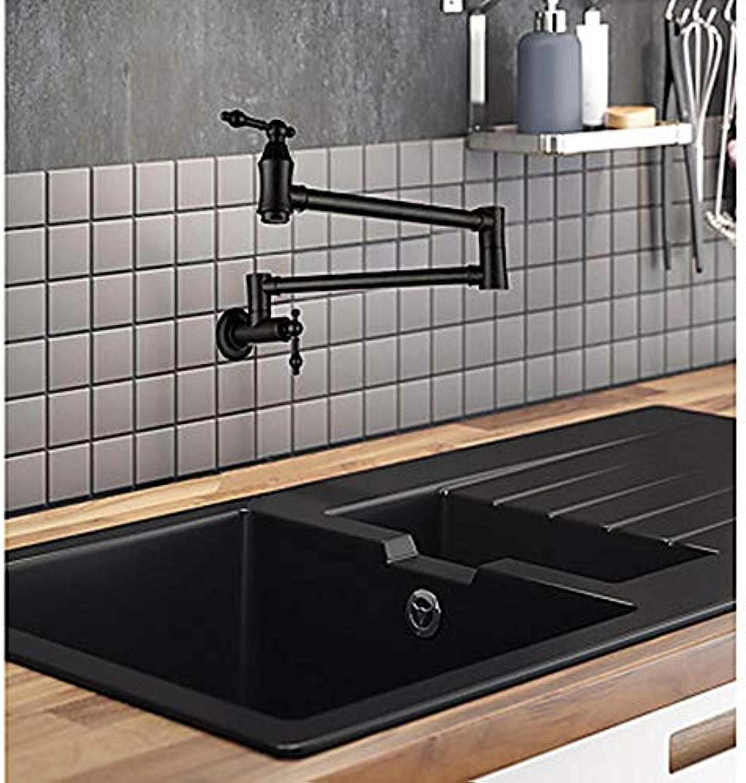 Ayhuir Küchenarmatur Waschbecken Wasserhahn - Doppelgriff Einloch-Lackierung Topf Füllung Wandmontage