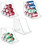 mDesign Aufbewahrungsbox-Set für Lebensmittel - 4er-Set für Getränkedosen & Konserven - aus robustem, transparentem Kunststoff - 27,94 cm x 13,97 cm x 21,59 cm - BPA-frei