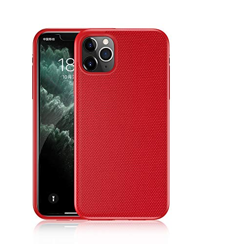 niter Compatible con iPhone 6 Plus/6S Plus Phone funda ultra fina 3D Textura Nylon Suave TPU Hard Glue PC Funda 4 en 1 Diseño especial Perfecto Teléfono Móvil (Rojo)