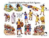 David and Goliath Felt Figures for Flannel Board Bible Stories-precut