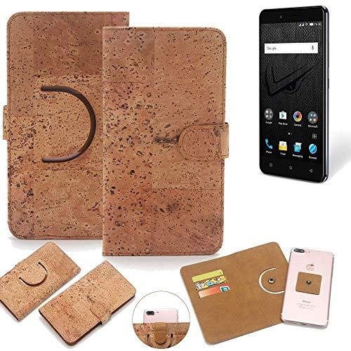 K-S-Trade® Schutz Hülle Für Allview V2 Viper XE Handyhülle Kork Handy Tasche Korkhülle Handytasche Wallet Case Walletcase Schutzhülle Flip Cover Smartphone