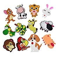 冷蔵庫用マグネット 10ピース/ロット3D漫画車冷蔵庫のための子供のための磁石家のための冷蔵庫のための磁石のための子供たちのおもちゃ男の子の贈り物 (Color : 10Pcs animals 01)