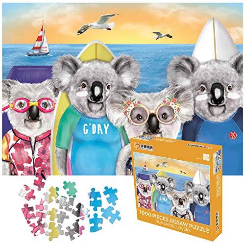 Puzzle 1000 pezzi,Puzzle impossibili,Puzzle Koala Adulti Puzzle Bambini 1000 Piece Jigsaw Puzzles Puzzles Classici,Alta qualità senza coriandoli, spessore 2 mm, peso 810 g, 70 * 50 cm