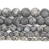 Piedra natural esmerilada Labradorita Luna redonda cuentas sueltas para hacer...