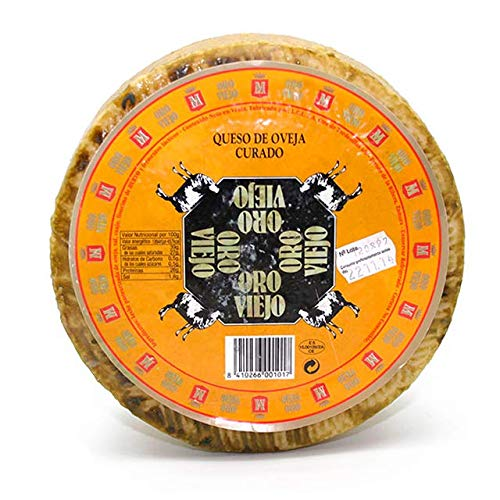 Queso de oveja curado ORO VIEJO 2.5kg aprox, sabor intenso y exquisito, Envío GRATIS 24h.