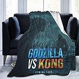 Manta de forro polar de franela para el otoño Hotel guardería, ultra acogedora YEEATZ Godzilla Vs Kong Poster Who Will Be King, manta decorativa cómoda de fácil cuidado 203 cm x 60