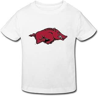 Toddler's Funny NCAA Arkansas Razorbacks Logo T-shirts By Mjensen