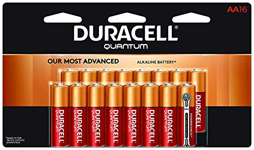 Duracell Batteries AA (2/4 / 8/10 / 16/24 Count) Non-Rechargeable Battery All Purpose Use for All Digital Devices Long Lasting Premium Quality (16 AA Duracell Quantum Alkaline)