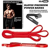 SLOVIC Resistance Band/Pull Up Band/Resistance Bands 42 Inch with Door Anchor for Calisthenics with Physical Booklet with 30 Exercises.(RED(15-35 LBS)).