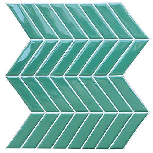 "Uoisaiko Peel and Stick Backsplash, Self Adhesive 3D Wall Tile Backsplash for Kitchen Bathroom, Removable Subway Tile, 4 Sheets 10""x10"""