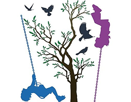 Sticker mural no.RS84 Children On Swings, tatouage mural, tatouages muraux, sticker mural