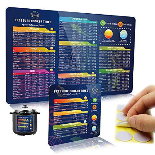 Instant Pot Accessories, Instant Pot Magnetic Cheat Sheet Set, Pressure Cooker Accessories Cook Times Chart, Magnets Cheat Sheet Cooking Accessories Quick Reference Guide for Instapot.