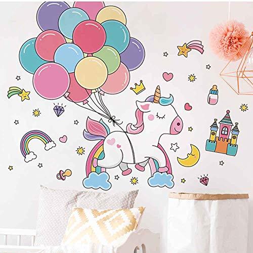 HlNaughty Cartoon Paard Dieren Muursticker DIY Ballonnen Muurstickers voor Huis Kids Slaapkamer Babykamer Kwekerij Decoratie 60 * 90Cm