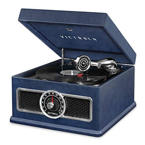 Victrola 5-in-1 Nostalgic Madison Bluetooth Record Player with CD, Radio, Record Storage and 3-Speed Turntable