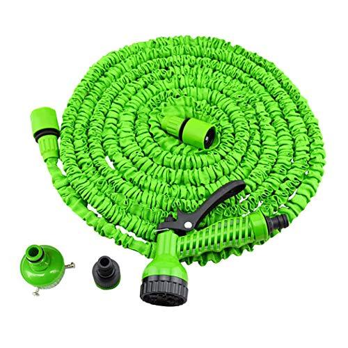 GAIBO Flexibler Gartenschlauch, Dreilagiger Latexkern 1/2 3/4 Verbinder 7 Funktionen Düse Auslaufsicher No-Kink Einfach zu Tragen,Green_250FT 75M