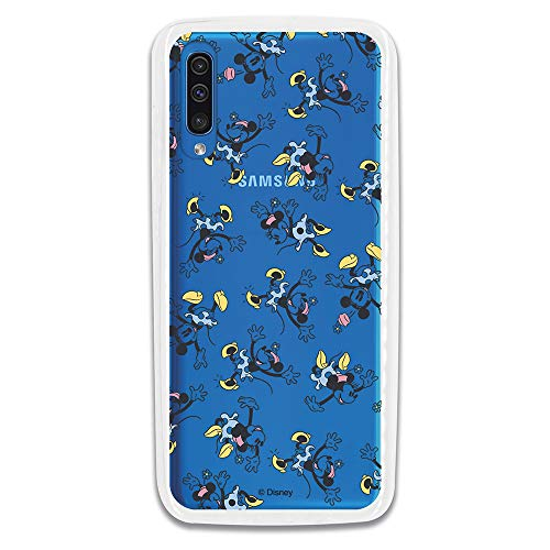 Carcasa Oficial Disney Minnie Falda Azul Clear para Samsung Galaxy A70