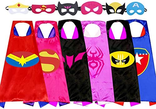 Superhero s children s cape toys for boys and girls aged 3 to 10 Christmas cartoon costumes product image
