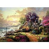 Pays des Merveilles Paysage Bricolage Peinture numérique Art Toile Cadeau Unique décoration de la Maison 40X50 cm sans Cadre