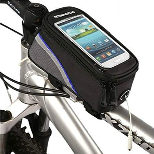 MXBIN ROSWHEEL vélo Cadre de vélo Sac Tube Avant 4,2 Pouces de téléphone Portable Outil de réparation de pièces Accessoires (Color : Blue)