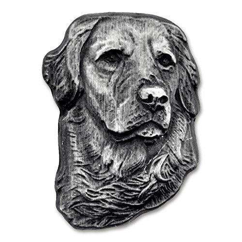 PinMart Silver 3D Golden Retriever Dog Breed Dog Lover Lapel Pin