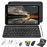 Tablet 8 Pulgadas Baratas y Buenas, 2 in 1 Tablet con Teclado 3GB de RAM y 32 GB de Memoria Escalable 128GB, 4G WiFi Tableta Android 10 Tablet PC 1.6GHz / Bluetooth / OTG / Ratón / Quad-Core (Gris)