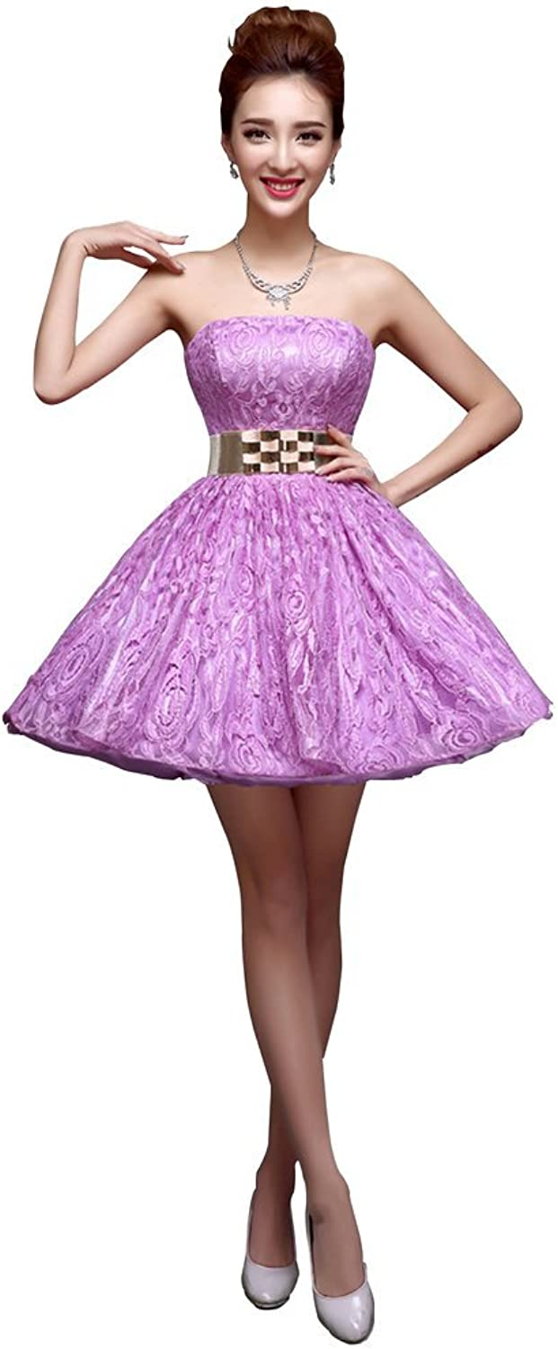Drasawee Strapless Short Evening Bridemsmaid Party Dress Junior Homecoming Gowns
