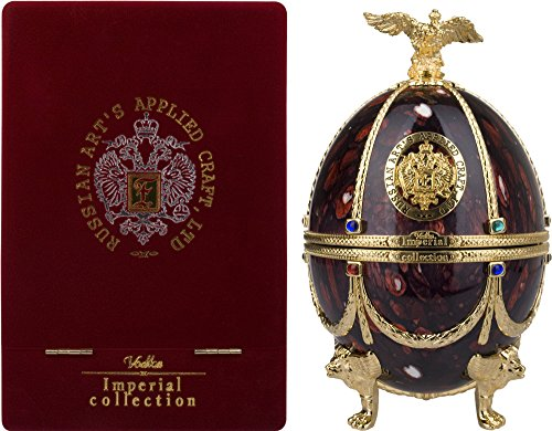 Imperial Collection Vodka Fabergé Ei Rubin + GB 40% Vol. 0,7 l