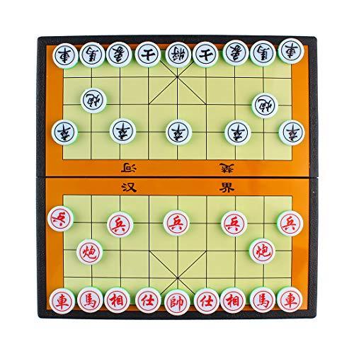 Larcele Falten Magnetisch Chinesisches Schach Xiangqi Strategie Brettspiel für Reisen CXXQ-01 (Klein)