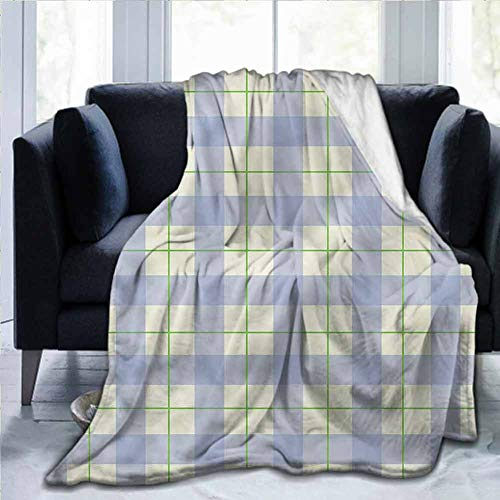 SLLART Flannel Ultra-Soft Warm Cozy Plush Throws Blankets Checkered,Classical Celtic Tile,50'x60' Lightweight and Warm