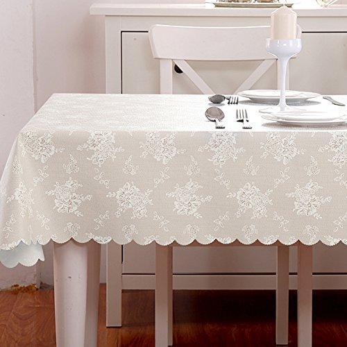 HM&DX Jacquard Tischdecken Wasserdicht Auslaufsicher Dekorationen Tischtuch schutzfolie Folie Tisch für esszimmer küche-C 137x240cm(54x94inch)