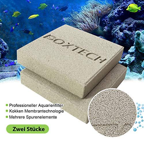 boxtech Aquarium Filtration, Keramische Biologische Filter Media zur Entfernung von Ammoniak und Nitrat im Aquarium Geeignet für 5-150 Gallonen Meerwasser und Süßwasserfischbecken