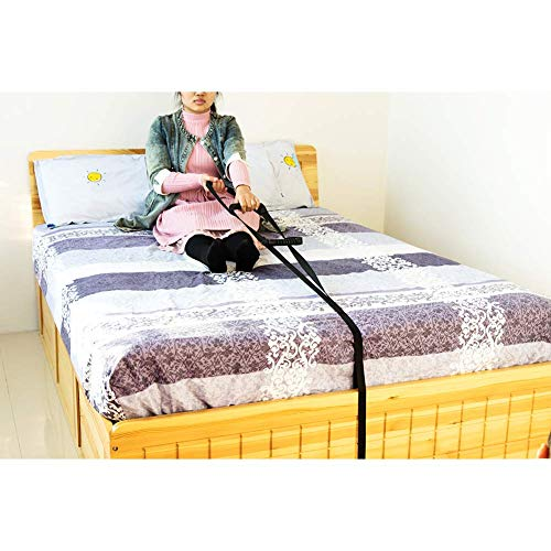 HNYG Bed Ladder Assist, 300 lbs Weight Capacity, Heavy Duty Bed Rails for Elderly Adults, Rope Ladder Caddie Helper, Sitting, Pull Up Hoist, Senior Assistance