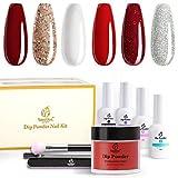 Beetles 6 Colors Dip Powder Nail Kit Starter,...