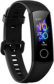 Honor CRS-B19S Band 5 Smartband, Standard Version, 0.95 Inch AMOLED Full Color Screen, Black