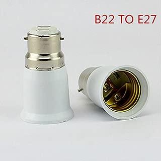 DishyKooker B22 to E27 Converter Light Lamp Bulb Socket Base Converter Edi-son Screw to Bayonet Cap Household Items