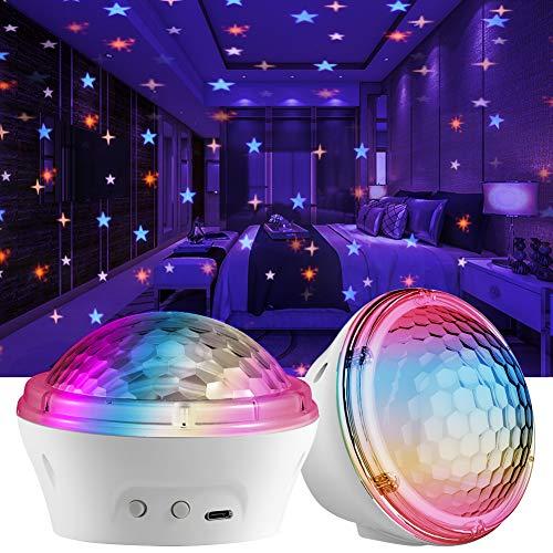 Estrella Proyector Luz de noche, Petrichor Proyector LED de luz estrellada con 4 modos y configuración de temporizador, para bebés, adultos, dormitorio, sala de estar, decoración de fiesta