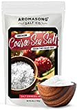 Aromasong 100% Natural Sea Salt, Coarse Grain, Large Bulk RESEALABLE Bag, 2.43 LBS, SUN DRIED from the Dead Sea, Unrefined, Gluten Free, Grinder Refill, Pure Sea Salt for Daily Cooking & Pickling Salt