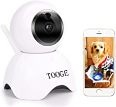 TOOGE Pet Dog Camera Wireless Home Security Camera FHD WiFi Indoor Camera Pet Monitor Cat Camera Night Vision 2 Way Audio ...