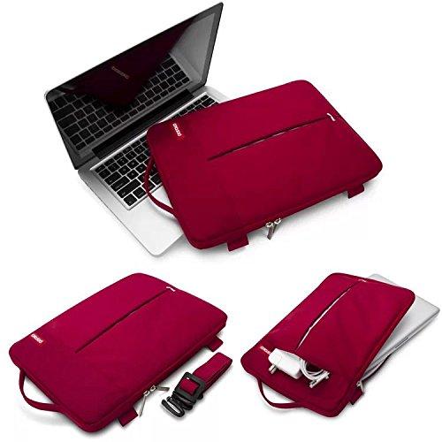 "AliceTop Pofoko Red Notebook Laptop Sleeve Case Bag Handbag Shoulder Bags For 13.3"" MacBook Air Pro MacBook Pro Retina"