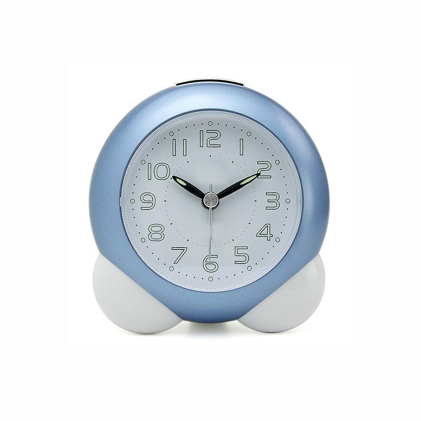 ナラーバー貸す管理小さなアラームテーブルファッションクリエイティブ学生漫画ベッドサイドベッドルームサイレント目覚まし時計付きナイトライト機能