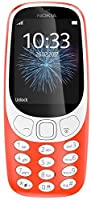 Nokia 3310 2G Mobiltelefon (2,4 Zoll Farbdisplay, 2MP Kamera, Bluetooth, Radio, MP3 Player, Single Sim) warm red