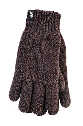 HEAT HOLDERS - Herren Thermisch Winter Handschuhe in 3 Größe und in 4 Farben (L/XL, Braun)